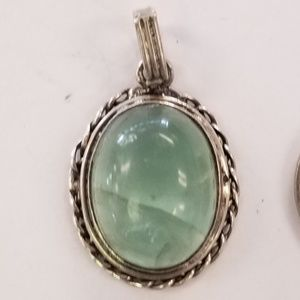 Silver & Green Tourmaline Pendant